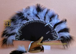 Abanico de plumas, MOD. CLEOPATRA