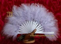 Abanico de plumas, MOD. PEARL GREY