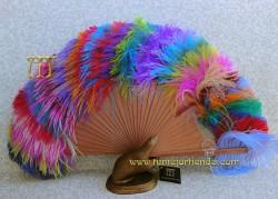 Abanico de plumas, MOD. RAINBOW-G
