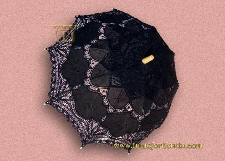 Sombrilla de encaje de Brujas Negra