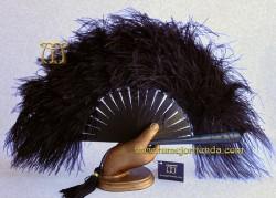 Abanico plumas, Mod. NERO