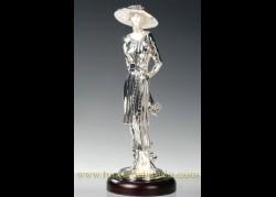 Figura de plata, MOD. DAMA CON FLORES
