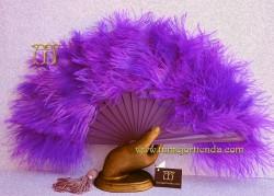Abanico plumas, Mod. LILAH
