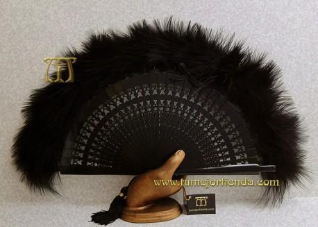 Abanico de plumas, MOD. MYN-33021-N