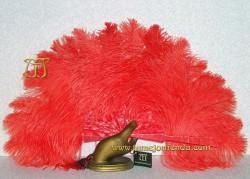 Abanico de nacarina y plumas, Mod. MAYTE