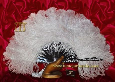 Abanico de plumas, Mod. LA FENICE