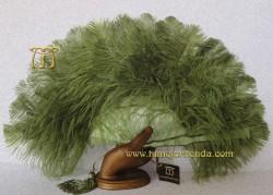 Abanico de nacarina y plumas, Mod. VERONA