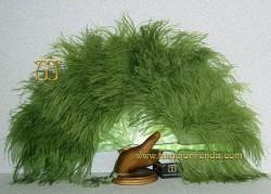 Abanico de nacarina y plumas, Mod. VIVIANA