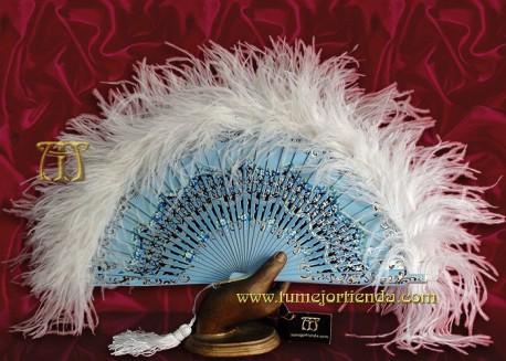Abanico de plumas, Mod. KALI