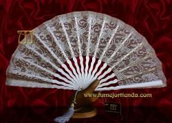 Abanico madrina - fiesta, PLATEADO, Mod. L-71449