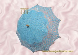 Sombrilla de encaje brujas TURQUESA CLARO, Ref. 912-Tq