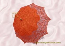 Sombrilla de encaje brujas NARANJA, Ref. 912-Na