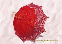 Sombrilla de encaje brujas ROJA, Ref. 912-Rj