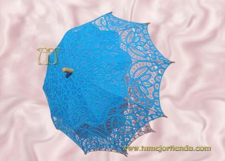 Sombrilla de encaje brujas AZUL, Ref. 912-Az