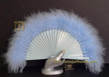 Abanico mini de plumas, Mod. CELESTE