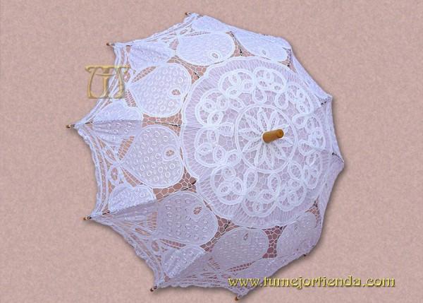 Sombrilla de encaje novia ref 906 b tu mejor tienda for Tela para sombrillas