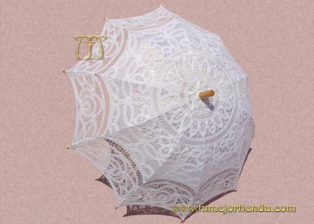 Sombrilla de encaje Novia, REF. 910-B
