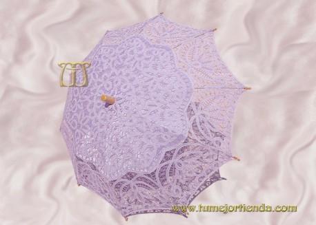 Sombrilla de encaje brujas MALVA, Ref. 912-Ma