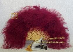Abanico de  plumas, Mod. MORGANA