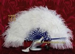 Abanico de plumas, Mod. LINARES