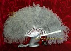Abanico de plumas avestrúz, Mod. ATENEA