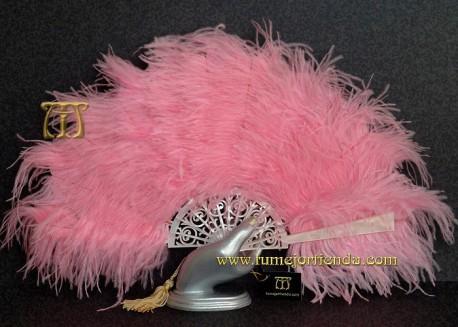 Abanico de nacarina y plumas, Mod. ROSE