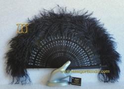 Abanico de plumas, MOD. MYN-33021-N-II