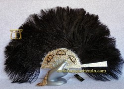 Abanico en Nacarina y plumas, Mod. CARLOTA