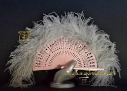 Abanico de plumas, Mod. BRIGHID