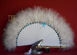Abanico de plumas novia, MOD. MYN-33041