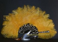 Abanico de plumas, Mod. LA FENICE-DOR