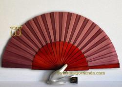 Abanico pericón Flamenco, REF. 900-Burdeos