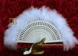 Abanico de plumas novia, MOD. MYN-33021