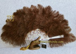 Abanico de Nacarina y plumas, MOD. SCHEHEREZADE