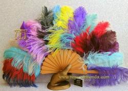 Abanico de Peral y plumas, MOD. RAINBOW-P