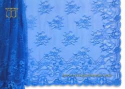 Mantilla Chantilly azul