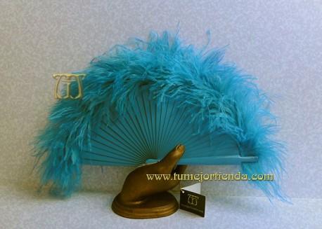 Abanico mini de plumas, Mod. CALYPSO