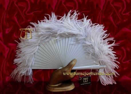 Abanico mini de plumas, Mod. ZOE