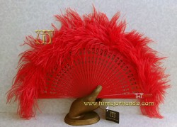 Abanico de plumas, Mod. ÁFRICA II