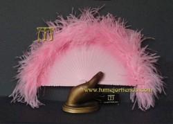 Abanico mini de plumas, Mod. MENINA