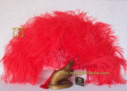 Abanico de nacarina y plumas, Mod. SUSPIRO