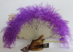 Abanico de plumas, Mod. AMATISTA
