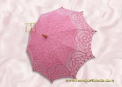 Sombrilla de encaje brujas ROSA, Ref. 912-Ro
