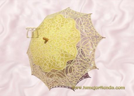 Sombrilla de encaje brujas AMARILLA, Ref. 912-Am