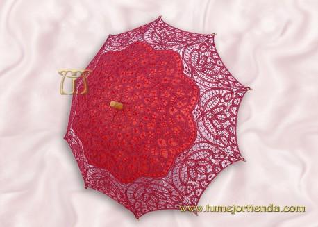 Sombrilla de encaje brujas GRANATE, Ref. 912-Gr