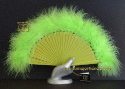 Abanico mini de plumas, Mod. VERDE FLUOR