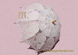 Sombrilla de encaje Novia, REF. 906-M