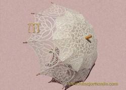 Sombrilla de  encaje Novia, REF. 912-M