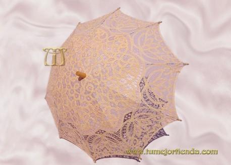Sombrilla de encaje brujas SALMÓN, Ref. 912-Sa