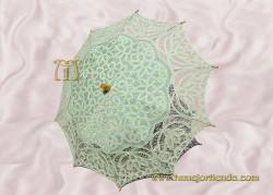 Sombrilla de encaje brujas VERDE AGUA, Ref. 912-V-A